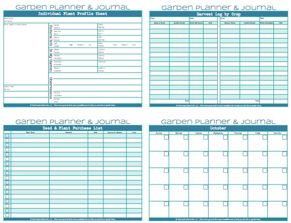 Free garden planner printable pdf for Garden planner 3