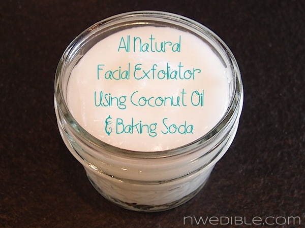 All Natural DIY Facial Exfoliator with Coconut Oil and