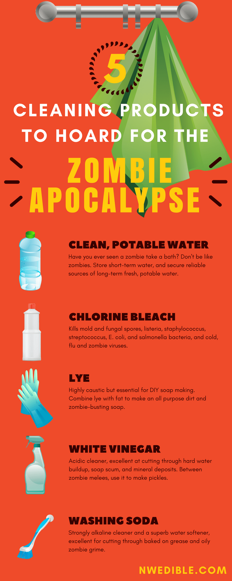 Cleaning Products Zombie Infographic
