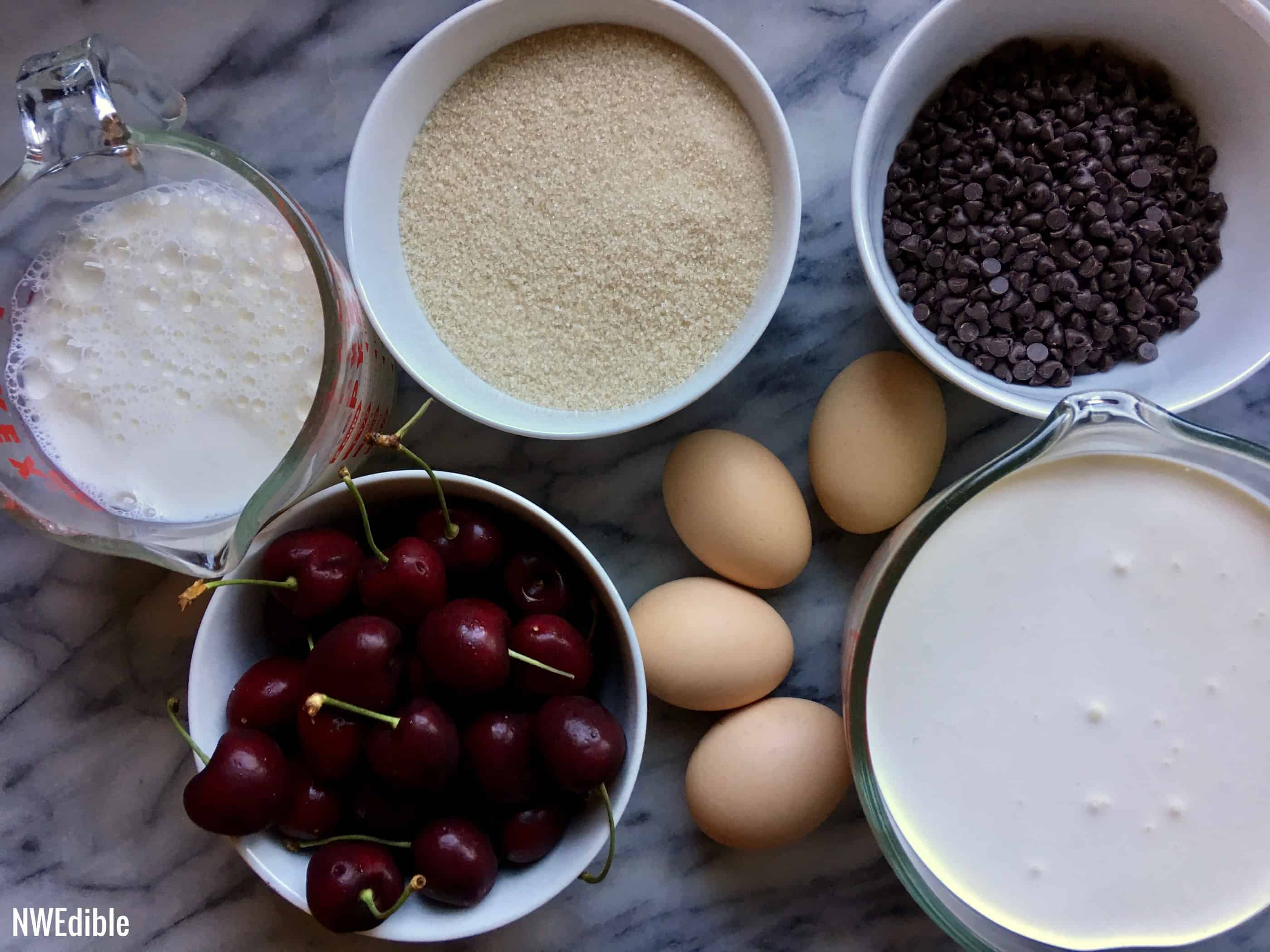 Cherry Chocolate Ice Cream Ingredients