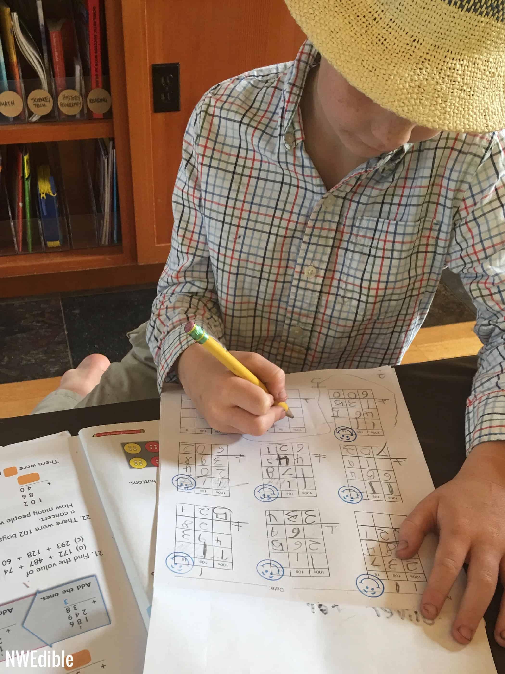 Oliver math grid paper