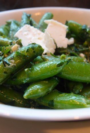 Sugar Snap Peas with Herbs and Feta