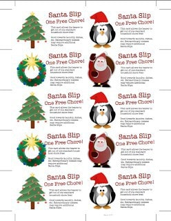 "Last Minute Stocking Stuffer: ""Get Out Of A Chore Free"" Santa Cards – Free Download"