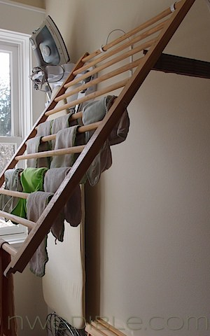 Diy Wall Mounted Clothes Drying Rack Northwest Edible Life
