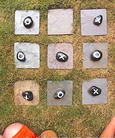 Add An Outdoor Tic-Tac-Toe Board To Your Garden