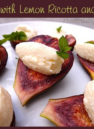 Figs with Lemon Ricotta and Mint