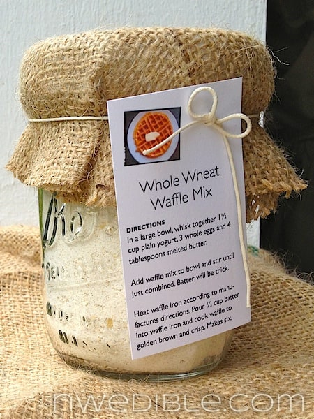 Whole Wheat Waffle Mix Gift Jar
