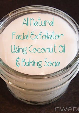 All Natural DIY Facial Exfoliator with Coconut Oil and Baking Soda