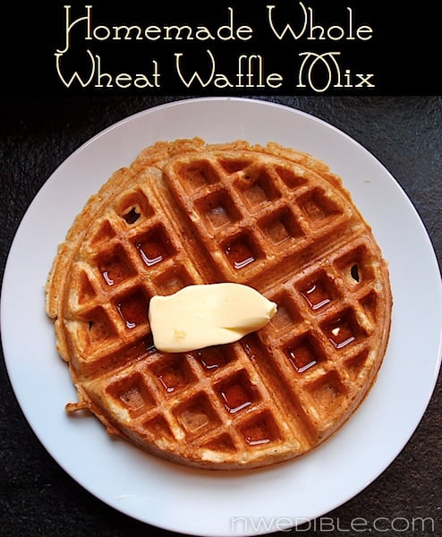Homemade Whole Wheat Waffle Mix Recipe at NW Edible