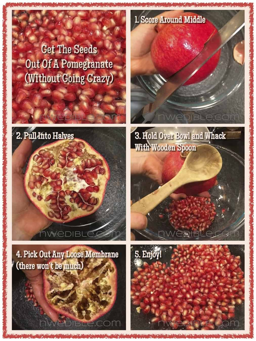 how to make pomegranate seeds at home