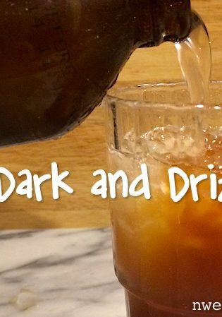 The Dark and Drizzly Cocktail