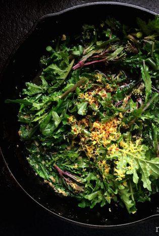 Kale Florets with Garlic, Chili and Lemon
