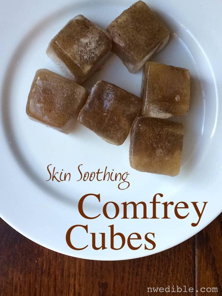 skin soothing sunburn comfrey cubes