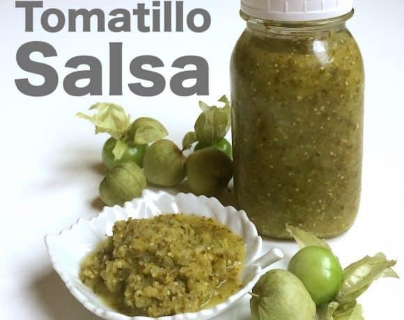 Lacto-Fermented Tomatillo Salsa