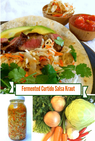 Lacto Fermented Curtido Cabbage Salsa