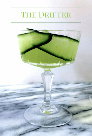 The Drifter Cucumber and Basil Cocktail