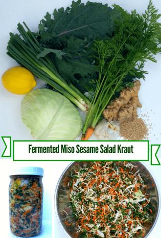 Miso Sesame Kale Salad Kraut