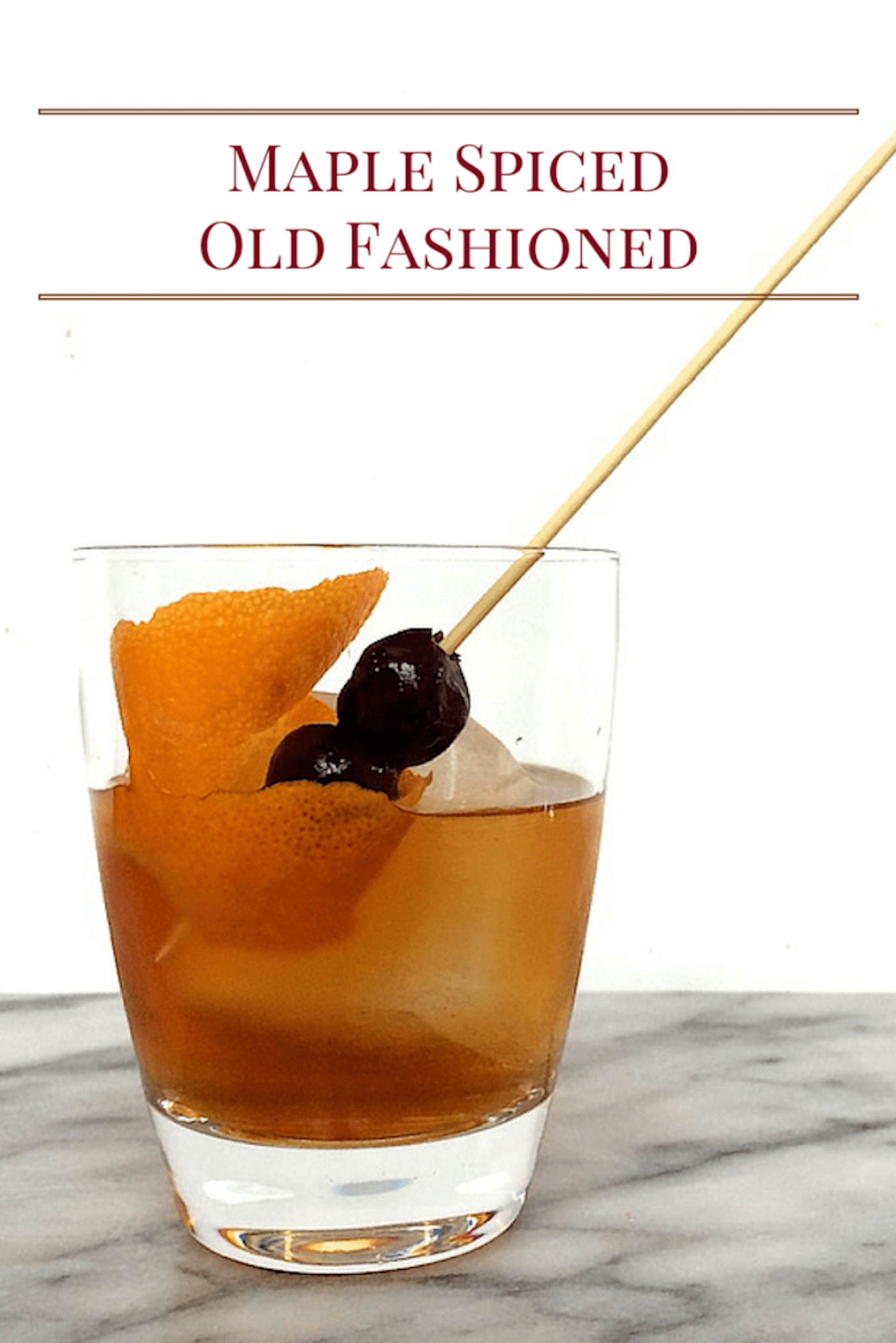 Old Fashioned Drink With Maple Syrup