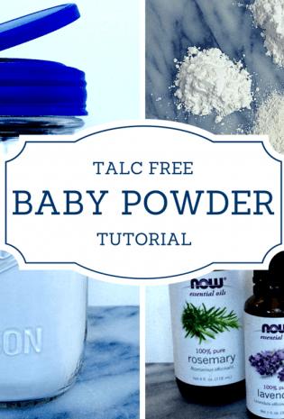 DIY Talc-Free Baby Powder