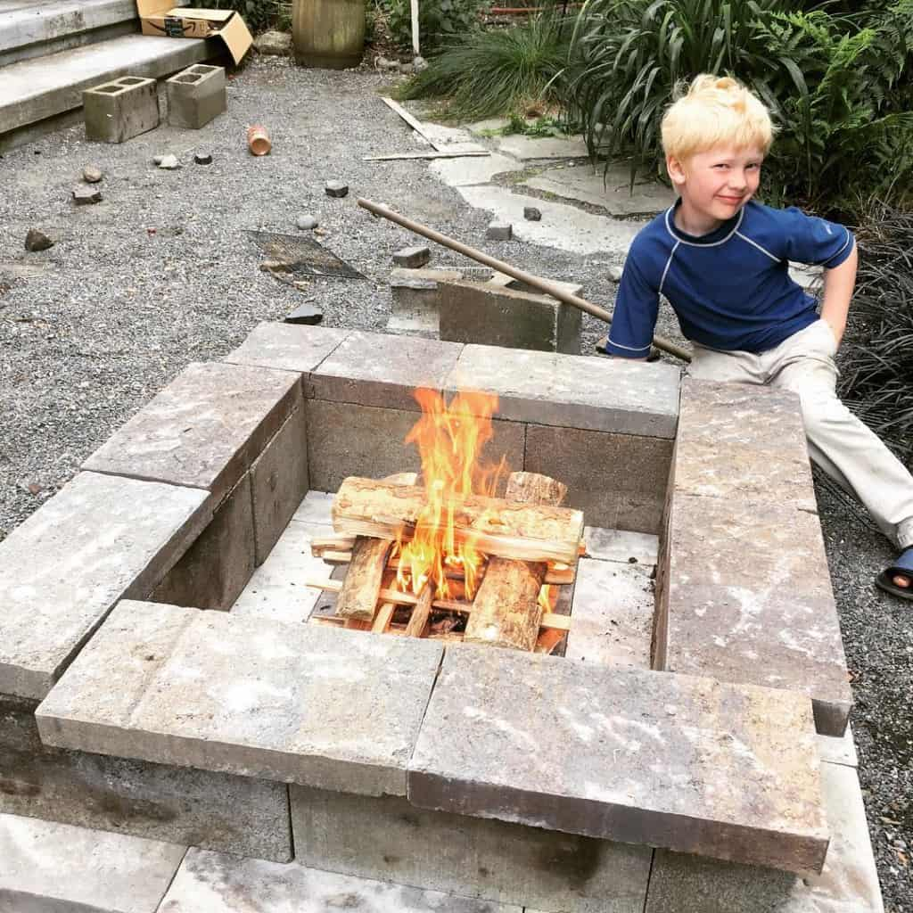 Oliver with Firepit