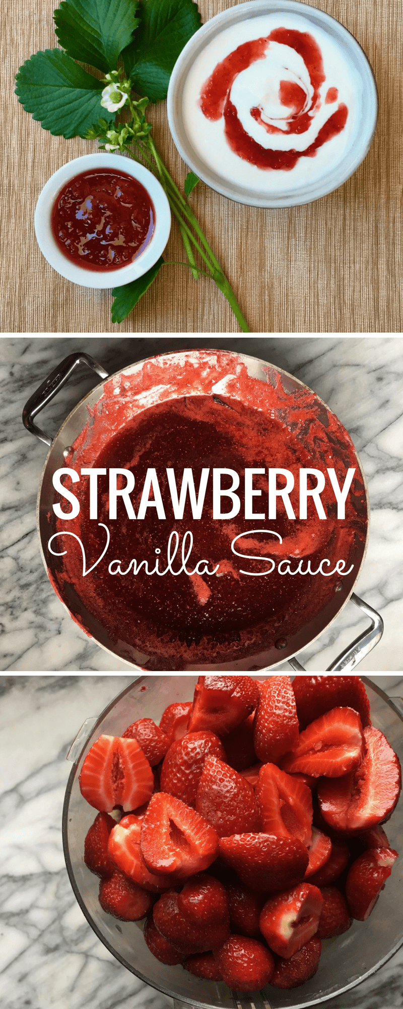Strawberry Vanilla Sauce Pin