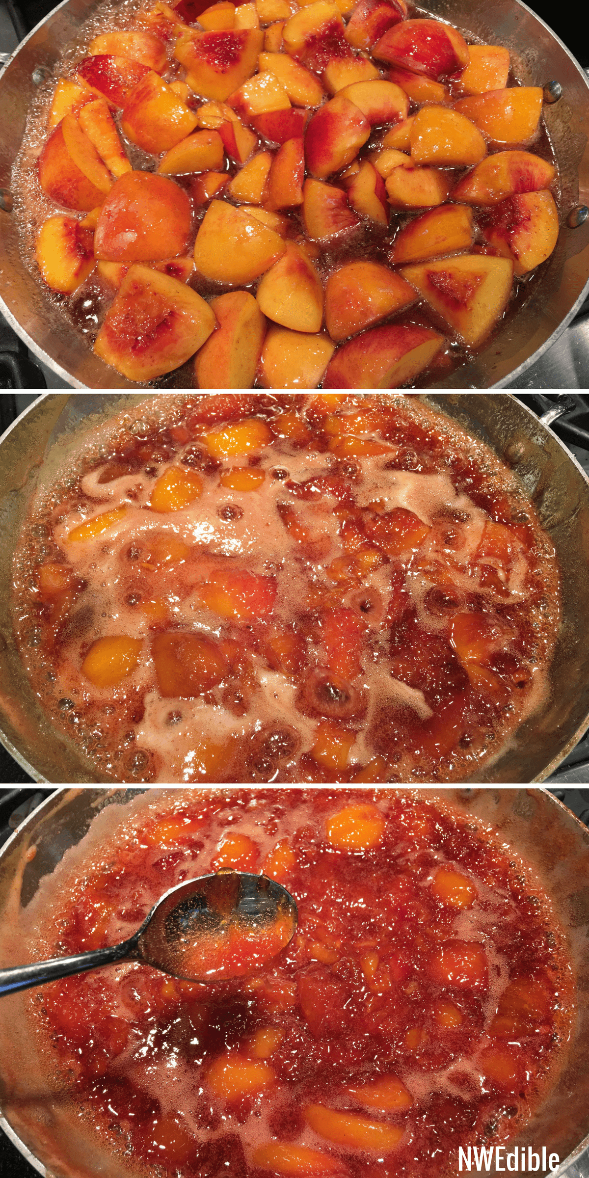 Nectarine Jam Progress