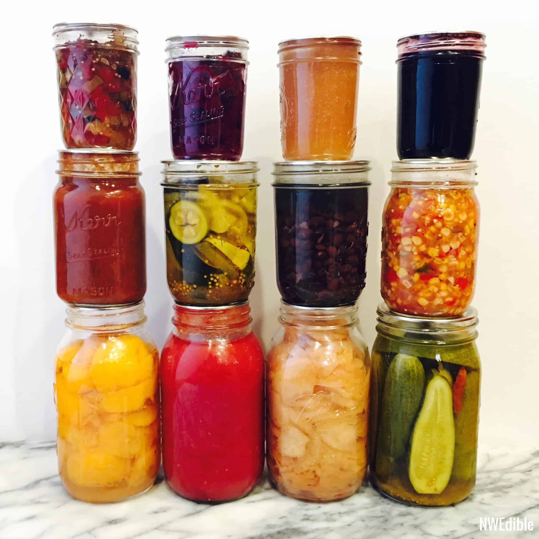 Stacked Canning Jars