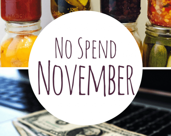 No Spend November: A Money Savings Challenge
