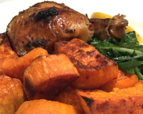 Harissa Roasted Sweet Potatoes